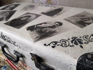 Чемодан, ручная роспись