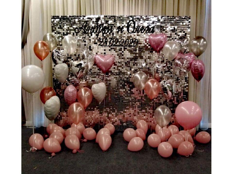 Фотозона «Паетки с шарами»